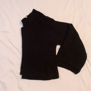 Wide arm pullover sweater
